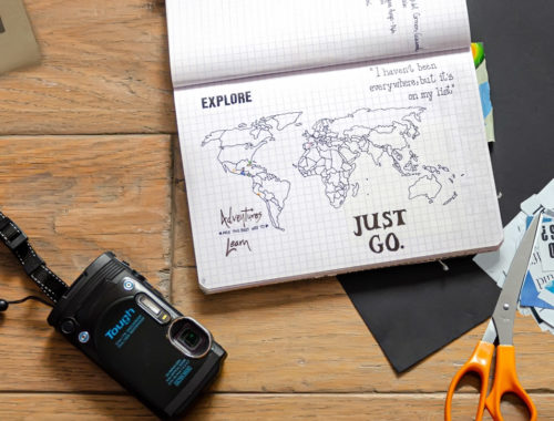 Ideas to include in your travel journal. Maps, tickets, tea bags | Travel Blog
